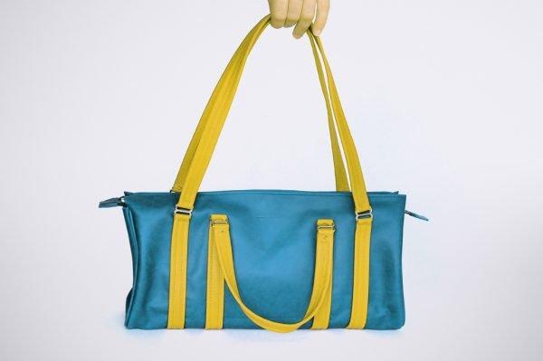 sac a fait main bicolore vintage style street fashion cabas shopper retro duffel
