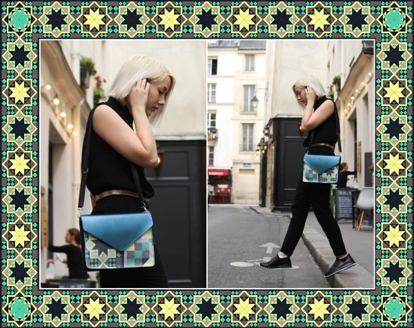 collab collection capsule artist art fashion mode team work hand made germany france friend ship proverbe spruch tasche clutch pochette wearable talisman bronze motif muster