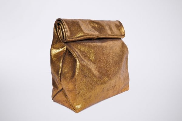 glitzer glitter party soiree theater opera elegant lunch bag pochette ethical conscious fashion revolution ethical