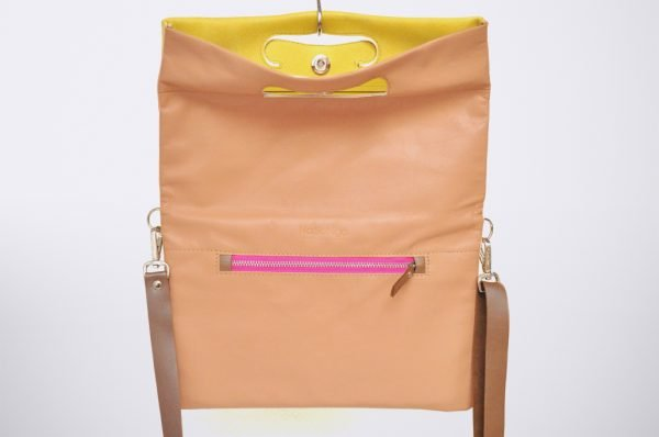 biolore summer soft pink tendence trend street style colour blocking hand made fait sac a main cuivre pochette upcycled