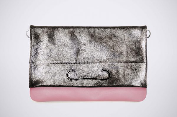 tendence trend street style colour blocking hand made fait sac a main silver silber argent pochette slow fashion branchee