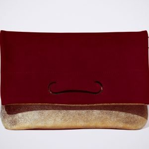 tendence trend street style colour blocking hand made fait sac a main copper cuivre bordeaux red rouge rot
