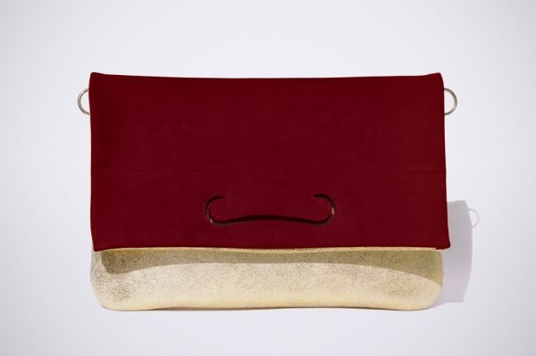 red warm summer colour blocking soirée abend tasche bordeaux