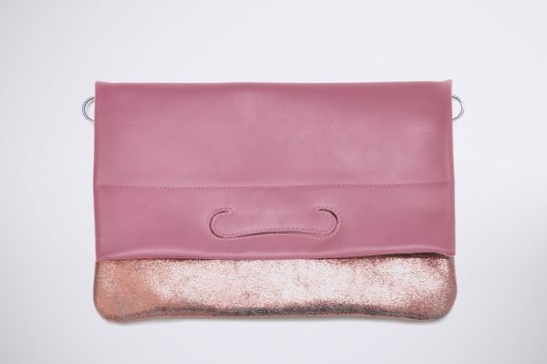 tendence trend street style colour blocking hand made fait sac a main silver silber argent cuivre rose pink pochette