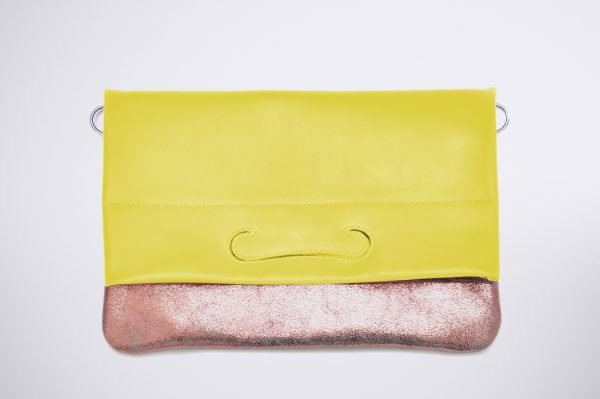 tendence trend street style colour blocking hand made fait sac a main silver silber argent cuivre rose pink pochette flashy bunt