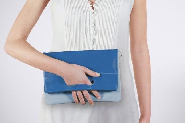 gris bleue blau grau tendence trend street style colour blocking hand made fait sac a main pochette