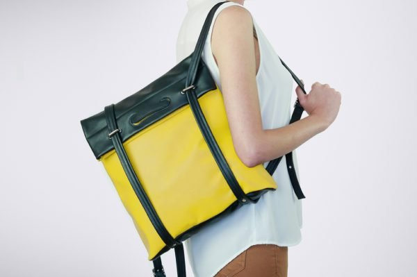 ruck sack totebag bag laptop variable bicolore handmade sustainable