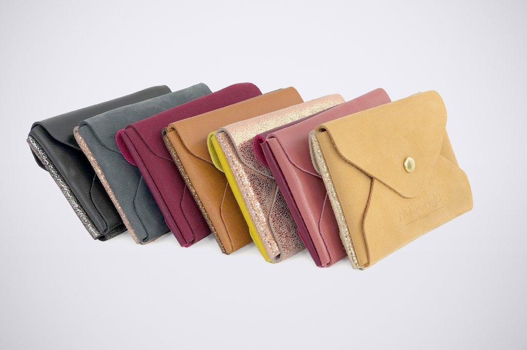 ab5998b6ce1 carte bleue visiten geld beutel monet credit natural leder pouch girl pink  glitter colour blocking bicolore