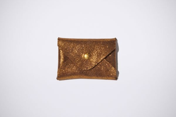 bronze glitter bling carte bleue visiten geld beutel monet credit natural leder pouch classic chic
