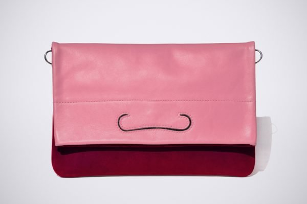 tendence trend street style colour blocking hand made fait sac a main silver silber argent cuivre rose pink pochette summer couleur colourfull bunt farbig trend sommer red rot bordeaux
